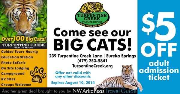 Save at Turpentine Creek!