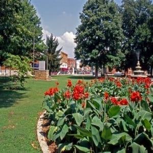 downtown park siloam springs