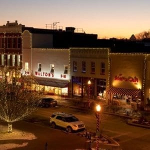 Bentonville Arkansas Square at Christmas