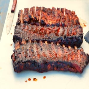 A Platter of Delicious Barbecued Ribs
