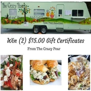 Win (2) $15.00 Gift Certificates
