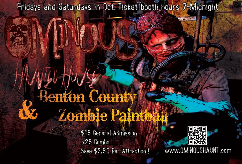 Want to Win 4 FREE Combo Tickets to Ominous Haunted House?