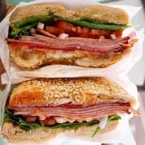 Ozark mountain bagel sandwich