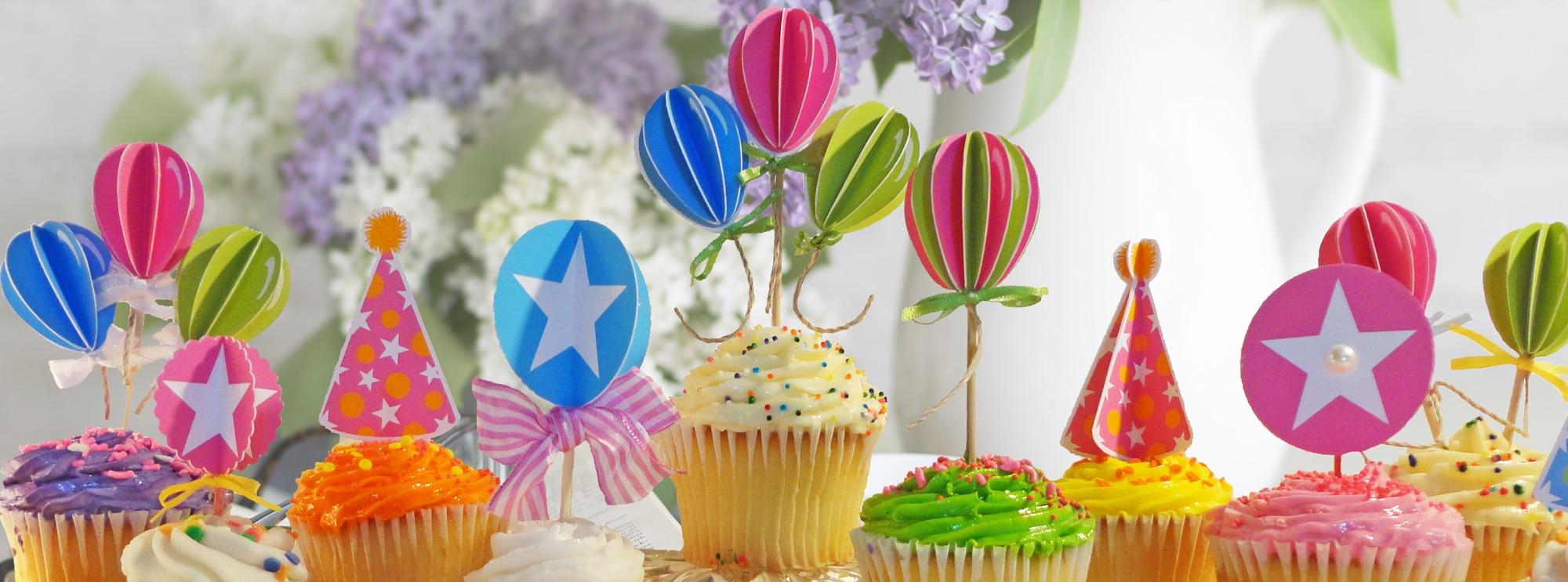 Free DIY Cupcake Toppers