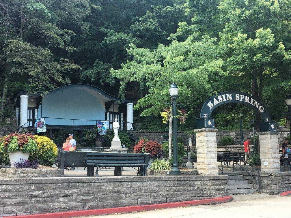 Basin Park Downtown Eureka Springs arkansas